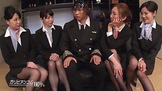 Ruka Ichinose, Mayu Nonohara, Haruka Aoki, Yui Ayase footjob - japan, jav, nylon, pantyhose, feet, foot fetish, flight a