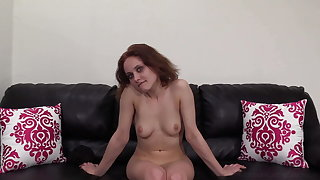 Stilted Short Haired Coed Jazmine Ass Fucked Of A Casting!