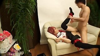 Nice busty Japanese teen tart featuring amazing pissing sex video