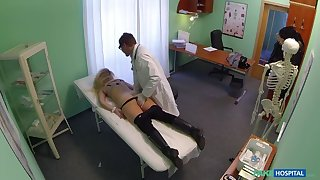 Cheating Blonde Sucks And Fucks Doctor After Striking A Deal